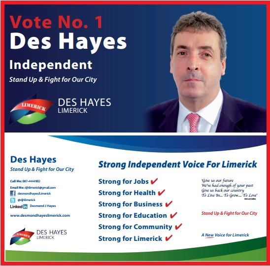 Des Hayes Independent Voice For Limerick Flyer (1)