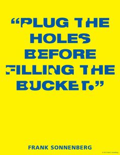 Hole in the Bucket