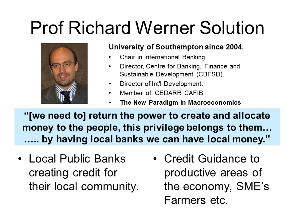 Local Credit & Credit Guidance - Prof R Werner